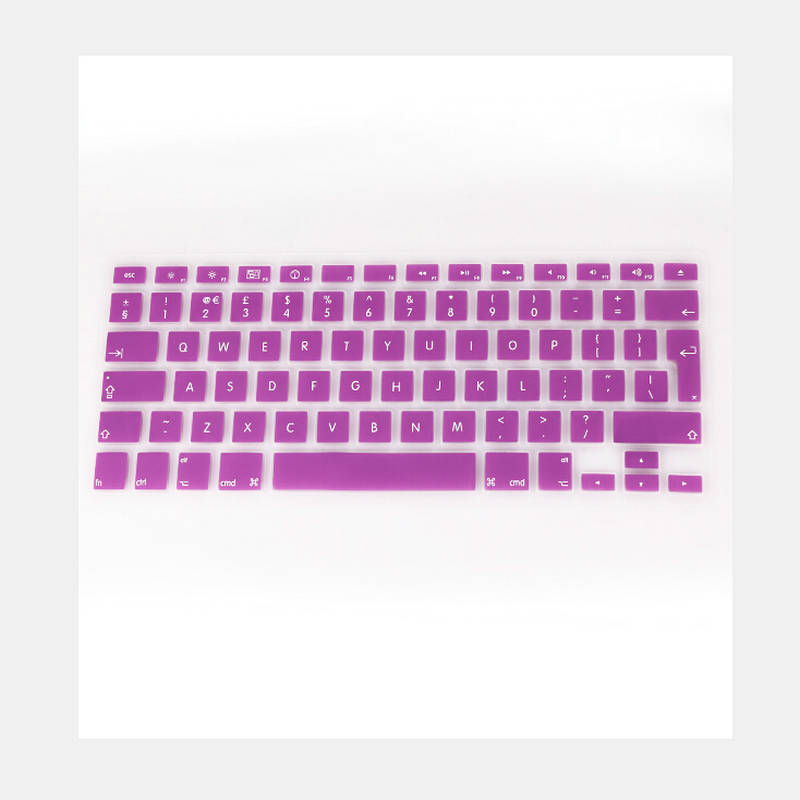 Silicone Keyboard Cover Sticker for MacBook Air 13 Pro 13 15 17 Protector Sticker Film,White
