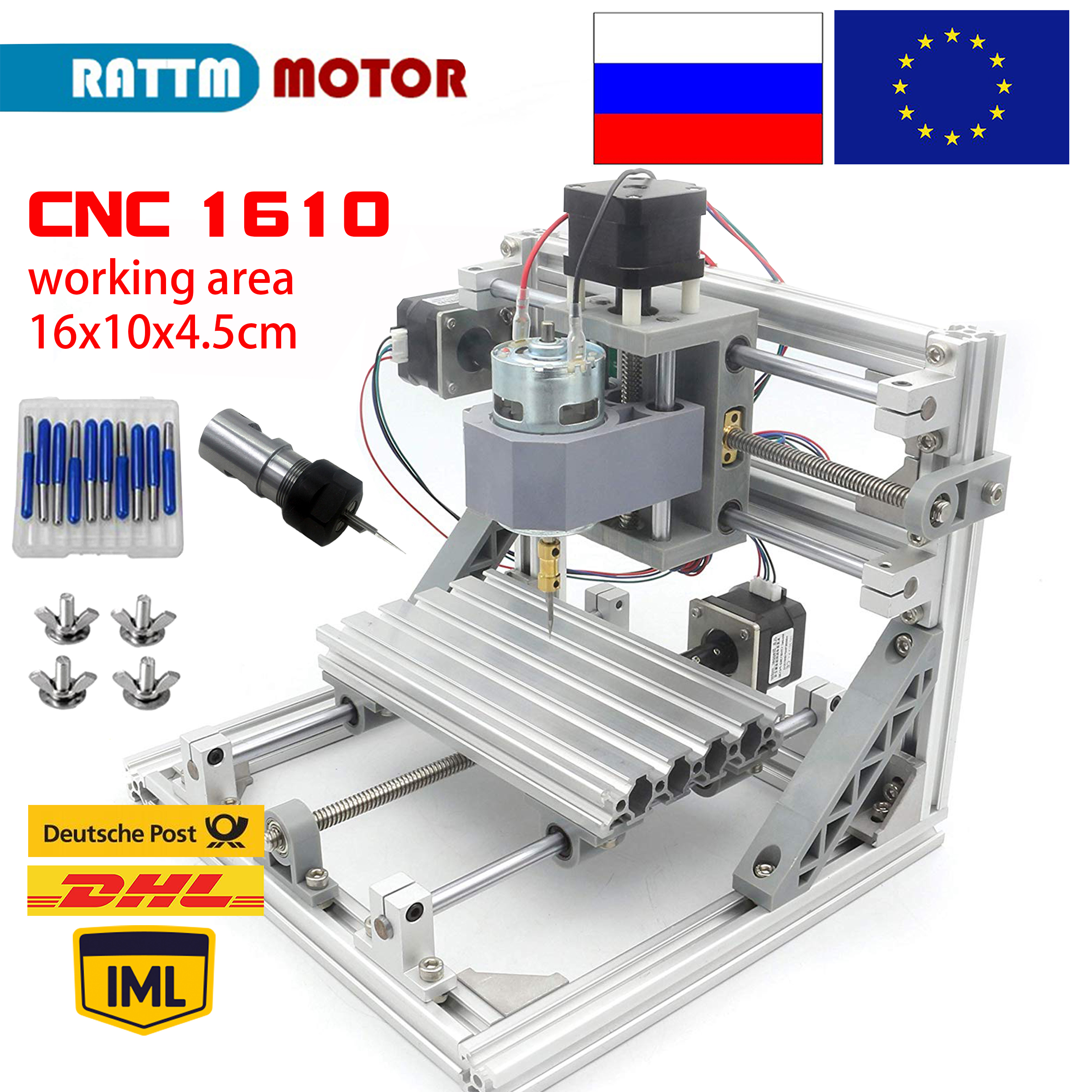 CNC1610 Mini diy cnc Wood Router working area 160x100x45mm 3 Axis Wood Carving machine Grbl Control