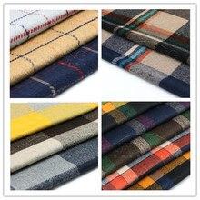 Импортная Высококачественная кашемировая шерстяная клетчатая одежда, утолщенная шерстяная ткань, модное шерстяное зимнее пальто 100 см* 150 см