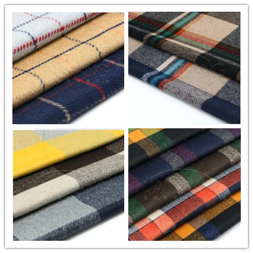 The import of high-grade cashmere wool plaid cloth thickened along woolen fabrics fashion wool winter coat/100cm*150cm
