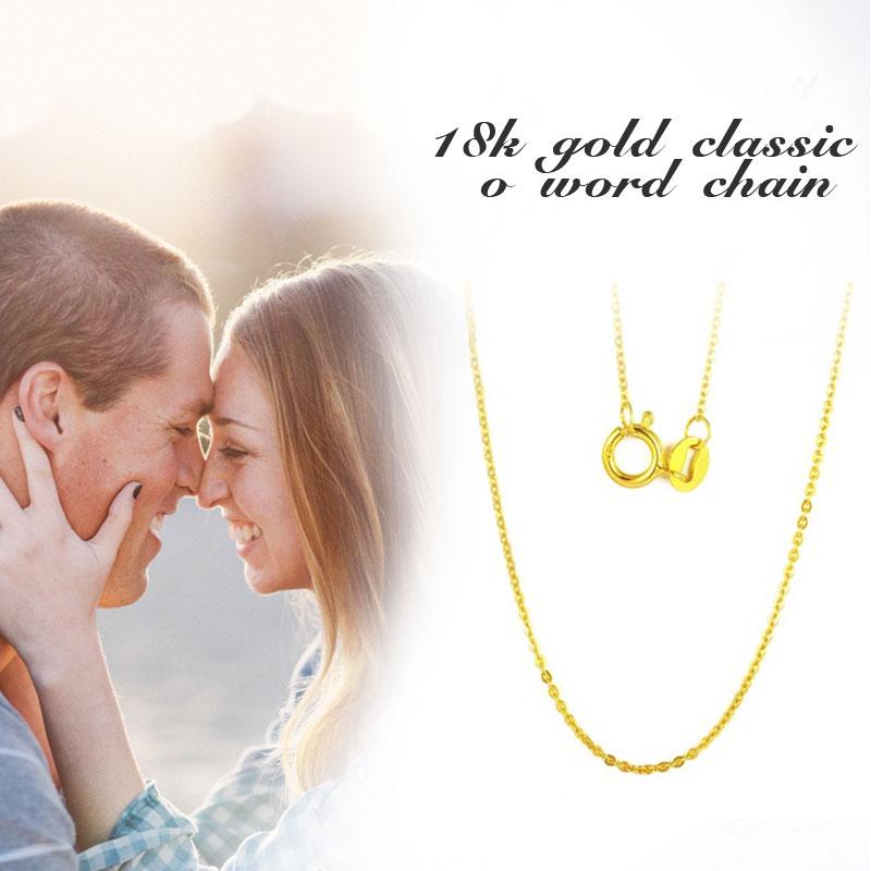 NIMF Echt 18 K Wit Geel Gouden Ketting 18 inches au750 Kostprijs - Fijne sieraden - Foto 2