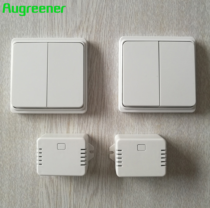 2017 Augreener Hot Sale No Battery Remote Control 2 Transmitters 2 Receivers 70m Long Range AC220V