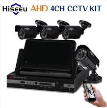 4CH HD 720P 960P 7 inch Displayer CCTV KIT System IR Bullet Outdoor Surveillance Camera Security System HDMI VGA
