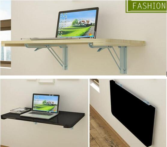 100*40CM Wall Hanging Laptop Table Wood Folding Notebook Table Children Study Desk Mutil-Purpose Computer Desk 120 45cm portable bedside notebook table mutil purpose rremovable computer desk lazy laptop desk children study desk with wheels