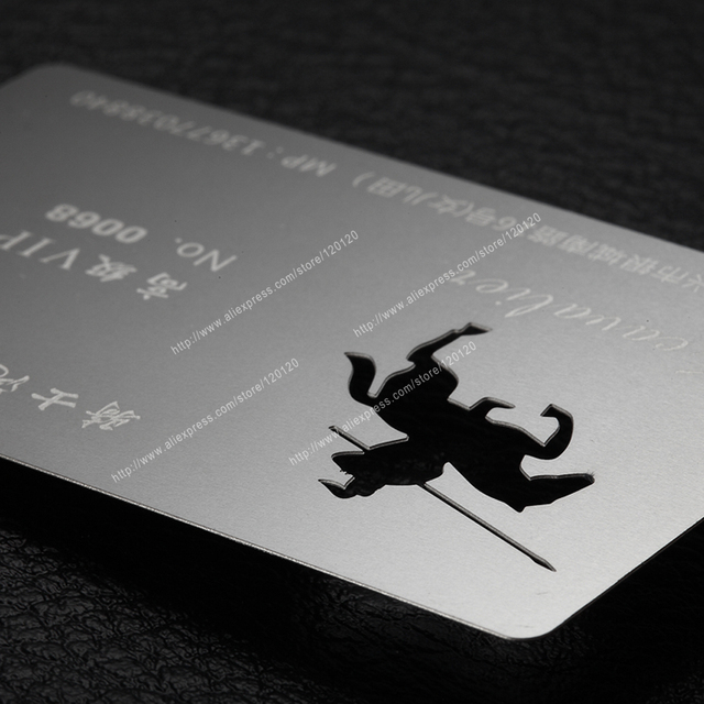 personalized ruler quality stainless steel vip metal card in