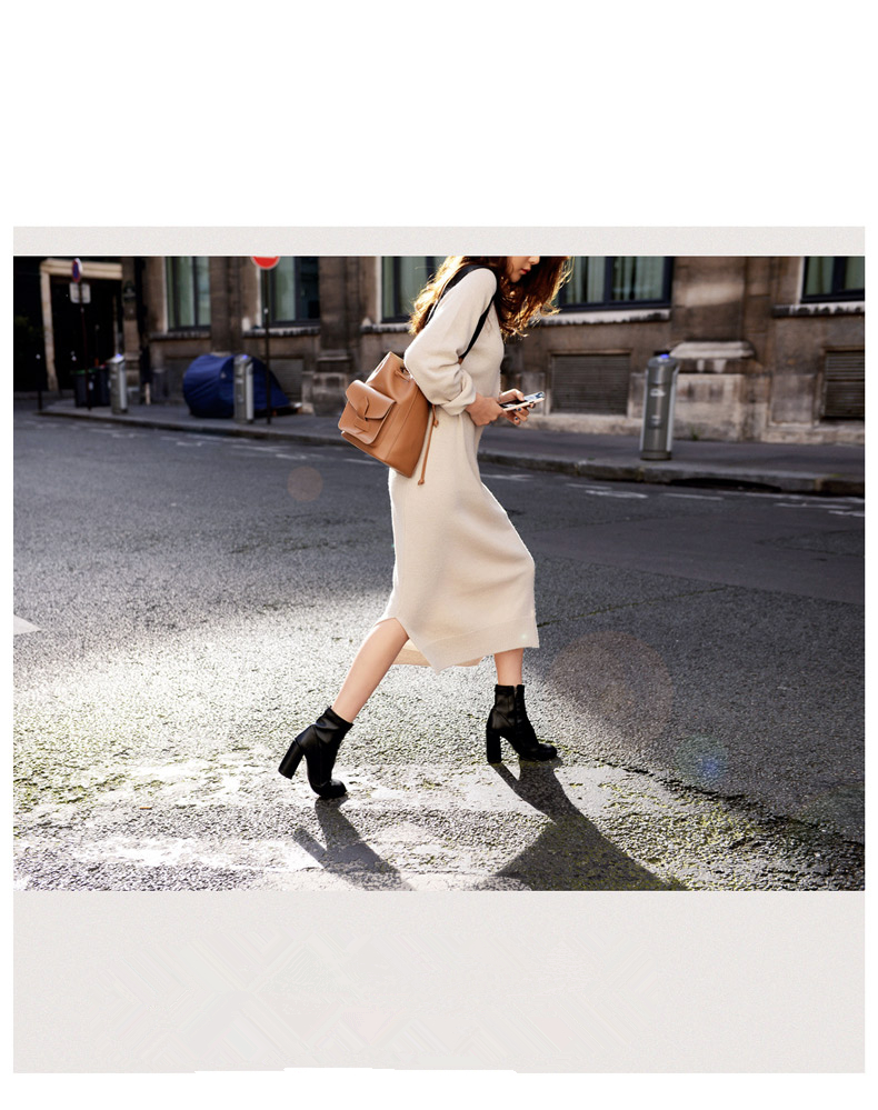 Tricoté black Coton Pull Tajiyane cou Robe Femmes Nouveau Arriveld089 O Robes Noir Longues Couleur Gray Chandails Printemps Casual Beige Mode Lâche m Beige BfqfP4w