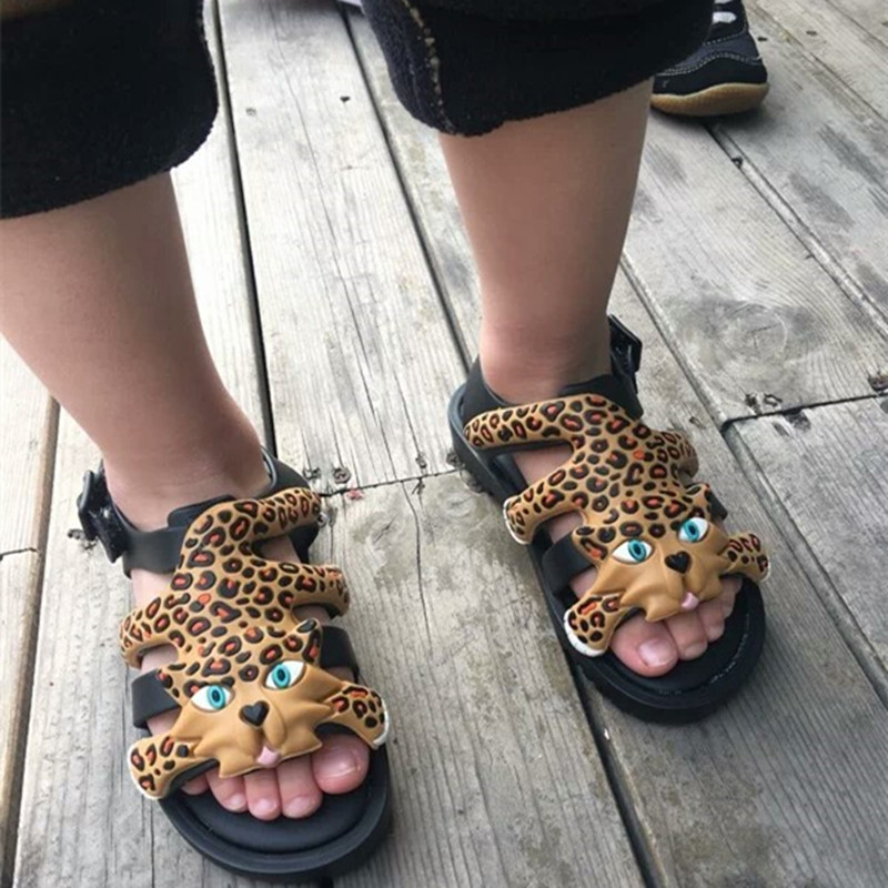 Mini Melissa 2019 New Summer New Roman Shoes Girls Sandals Flox Brazilian Sandals Shoes Soft Bottom Non-Slip Boys Sandals