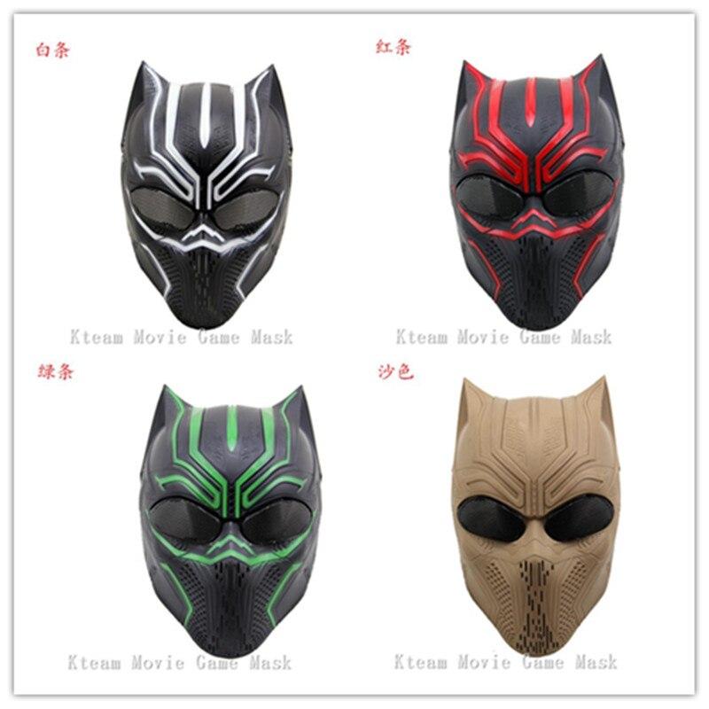 Shop für neueste zuverlässige Leistung Markenqualität US $35.99 |Bestnote Harz Panther Masken Captain America 3 Schwarz Panther  maske Cosplay Neue Marvel Tier Masken Airsoft Cs unterwegs Schutzhülle ...