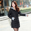 Perempuan Gumpalan dingin menengah-panjang turun kapas ditambah ukuran jacket, Wanita wanita ramping jaket, Dan mantel LQ051