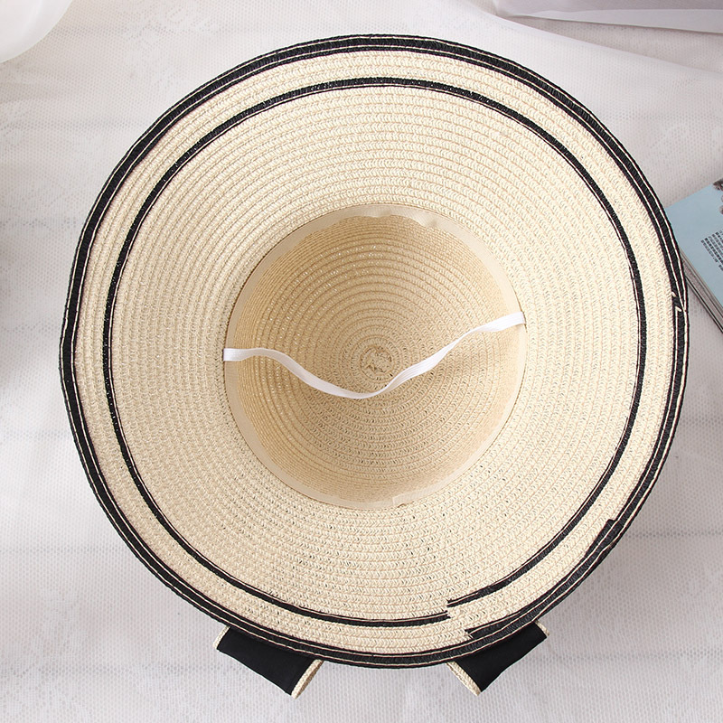307b3c07 Mingjiebihuo Korean new fashion temperature comfortable summer outdoor  sunscreen hat bow beach breathable cute cool straw hat-in Sun Hats from  Apparel ...
