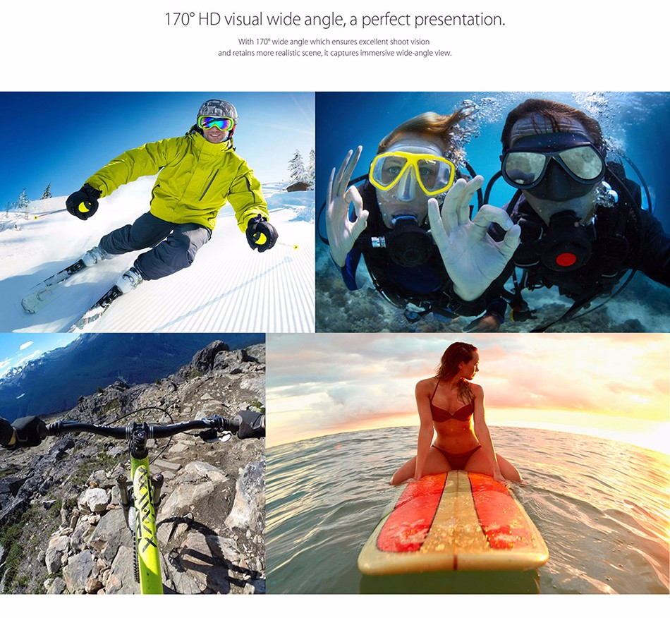 ELEPHONE ELE CAM EXPLOYER WIFI ALIWINNER V3 2 INCH TFT LCD 4K 15FPS WATERPROOF ACTION SPORT CAMERA  05