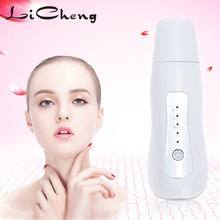 LiCheng EMS Ultrasonic Skin Scrubber Cleanser Face Cleaning Acne Removal Facial Spa Massager Ultrasound Peeling Clean Tone Lift