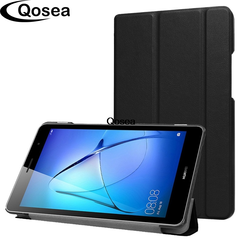 Qosea Pour Huawei Mediapad T3 8.0 pouce De Luxe PU En Cuir Smart Stand cas Pour Huawei Mediapad T3 7 8 10.0 Tablet PC Couverture de Stand
