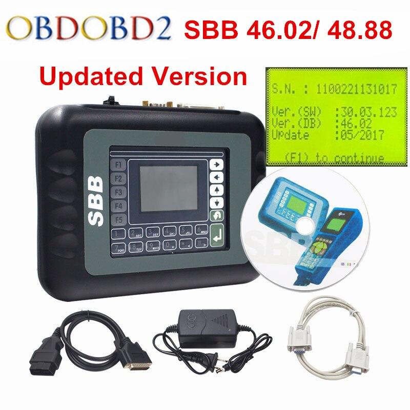 2018 SBB V46.02 Ключевые программист SBB Pro2 V48.88 авто ключевых инструментов программирования SBB 46,02 48,88 OBD2 OBDII Ключевые чайник для автомобилей до 2018