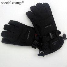 Профессиональные Водонепроницаемые перчатки для катания на лыжах, для всех погодных условий, для мужчин, для мотоцикла, для зимы, водонепроницаемые, для спорта на открытом воздухе