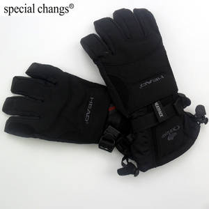 Thermal-Skiing-Gloves Motorcycle Waterproof Winter Professional-Head for Men Sports Outdoor