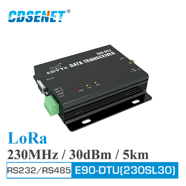 E90 DTU 230SL30 LoRa Relay 30dBm RS232 RS485 230MHz Modbus Transceiver and Receiver LBT RSSI Wireless RF Transceiver