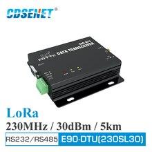 E90 DTU 230SL30 LoRa röle 30dBm RS232 RS485 230MHz Modbus alıcı verici LBT RSSI kablosuz RF alıcı verici