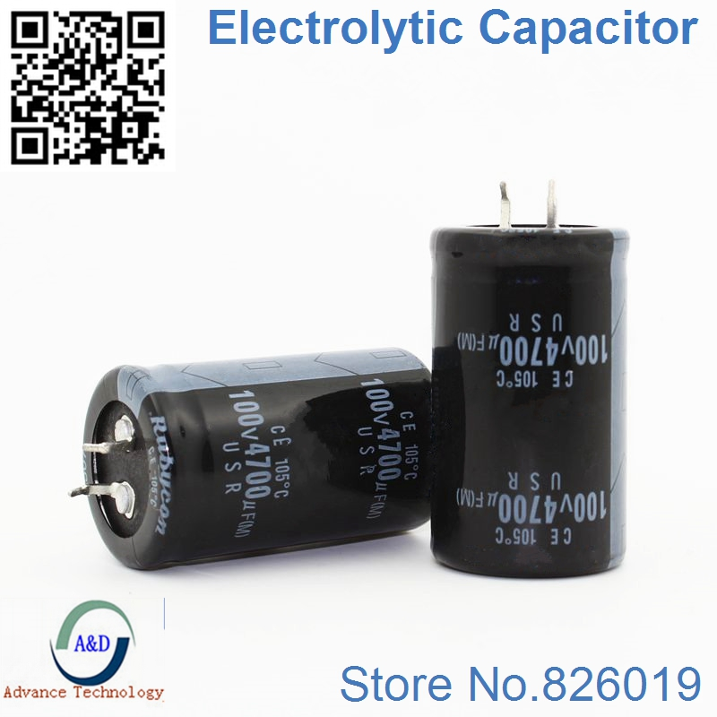 6pcs/lot 100V 4700UF Radial DIP Aluminum Electrolytic Capacitors Size 30*50 4700UF 100V Tolerance 20%