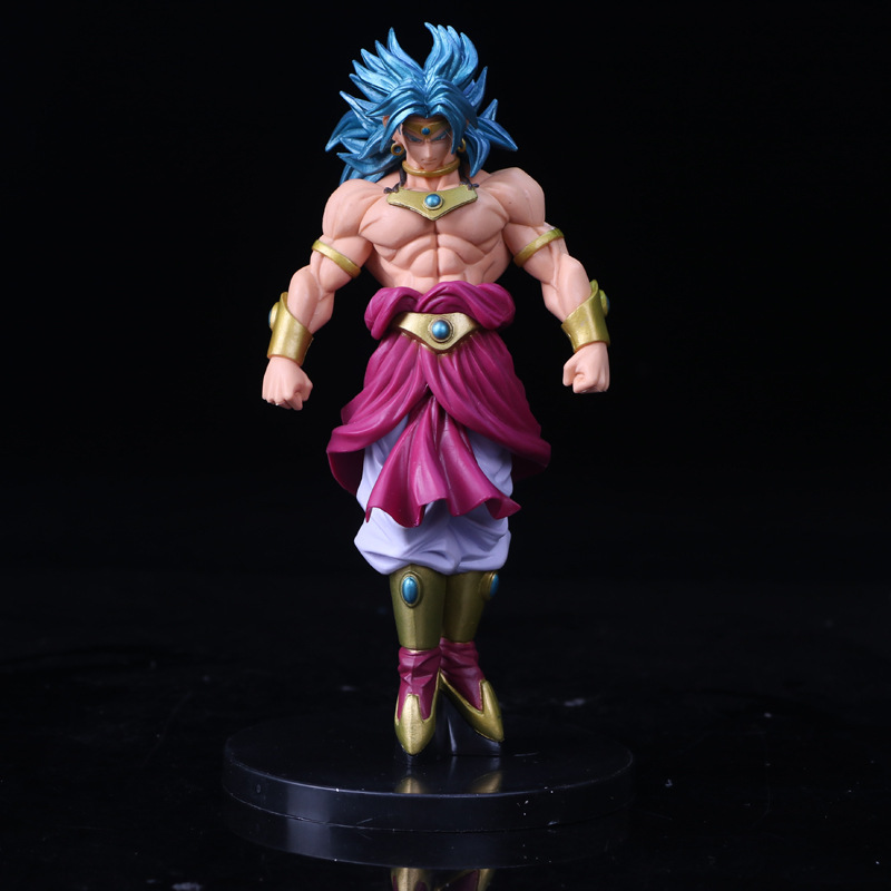Tobyfancy Dragon Ball Action Figure Blue Broly Broli Stand PVC SCultures Big Dragonball Collection Model Toy