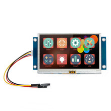 "4.3"" Serial Port Color LCD Module Enhanced HMI Intelligent Smart USART Serial Touch TFT LCD Module Display Panel for Arduino Kit(China)"