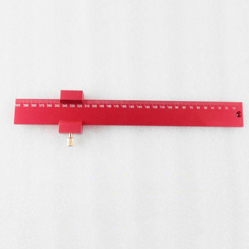 Aluminum Alloy Ruler Carpenter's Ruler Woodworking T type Scriber Woodworking Square Measuring Gauger Marking Tool