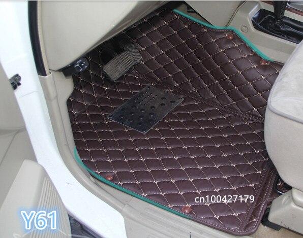 Haute qualité! Tapis de sol de voiture spécial + tapis de coffre pour Nissan patrouille Y61 7 sièges 2010-1997 tapis imperméables tapis pour patrouille 2004