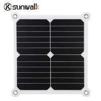 SUNWALK Dual 5V Solar Charger 13W Sunpower Solar Panel Battery Charger USB Output Waterproof Solar Rechargeable