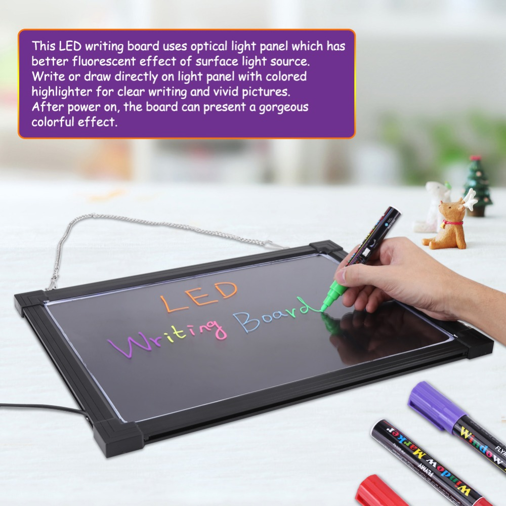 erasable led light drawing board message advertizing sign writing