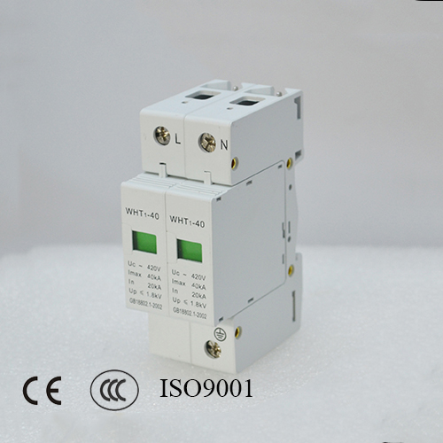 1P+N 20KA~40KA C ~420VAC Arrester Device SPD House Surge Protector protection device Protective Low voltage