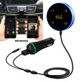 New Arirval Bluetooth Hands-Free Car Kit with 3.5mm Aux Jack Multi-Point Access Siri Voice Activation Dual USB Charge jr13