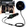 Novo Arirval Bluetooth Hands-Free Car Kit com 3.5mm Jack Aux Multi-Ponto de Acesso de Ativação de Voz Siri Dual USB Carga jr13
