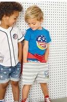 Bebek Boys Giyim Setleri Yeni 2018 Kalite Marka 100% Pamuk yaz Çocuk Takım Elbise Çocuklar Kısa Kollu Giyim Seti Bebek Boys dış giyim