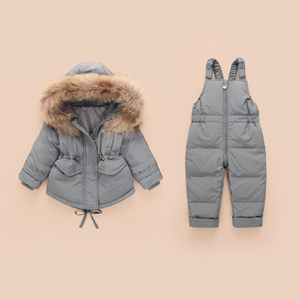 Image 3 - Russian Winter Jacket Kids Overalls for Girls Boys Kids Snowsuit Baby Boy Girl Coat Down Jackets Toddler New Year Clothing Set