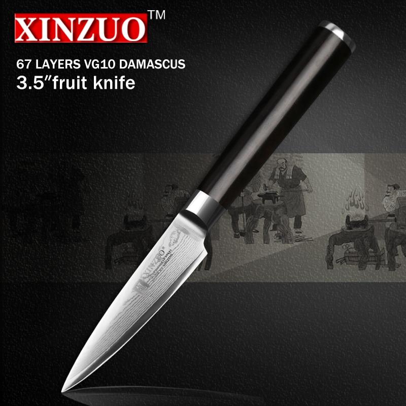 XINZUO 67 layers 3 5 paring font b knife b font Japanese VG10 Damascus kitchen font