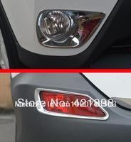 For Toyota RAV4 2013 2014 2015 ABS Chrome Front And Rear Fog Light Lamp Cover Trim  4 pcs