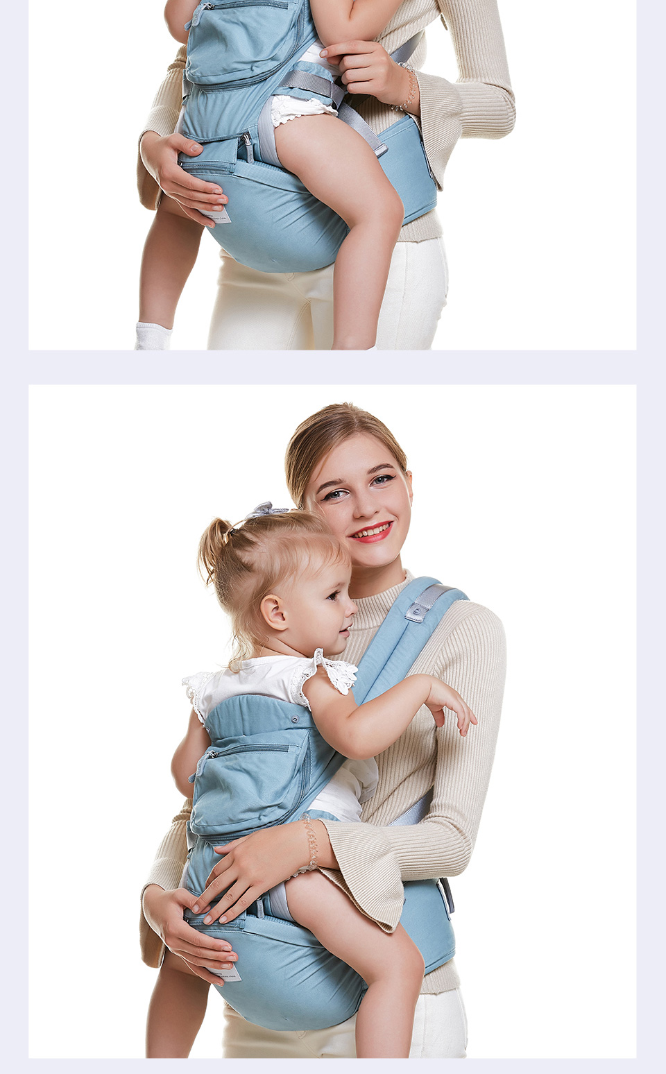 VIP Newborn Adjustable Sling Wrap Hipseat And Ergonomic Baby Carrier 14
