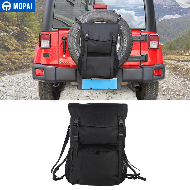 MOPAI Car Spare Tire Bag Multi Functional Camping Tool Storage Bag Rear Trunk Cargo for Jeep Wrangler JK TJ JL Accessories