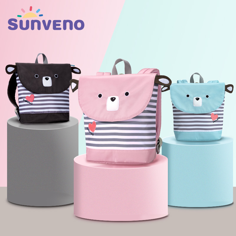 Sunveno Cartoon Harnesses Leashes Baby Toddler Keeper Anti-lost Bag Walking Wings Safety Harness Backpack Strap Toddler Backpack