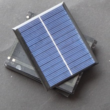 Promotion 120PCS Lot 1 5W 6V 250MA Solar Cell Solar Panel For DIY Small Solar Power