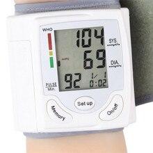 Цифровой ЖК Наручные Монитор Артериального Давления Heart Beat Частоты Пульса Метр Меру новый BP102