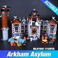 Nueva Lepin 07055 Genuino Serie de Películas de Batman El Manicomio Arkham's Juego de Bloques de Construcción Ladrillos Juguetes