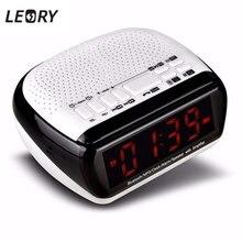 Leory новые стильные Беспроводной bluetooth led Дисплей цифровой Динамик MP3 плеер Будильник FM радио Динамик высокое качество