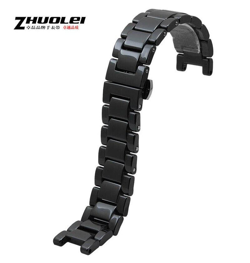 Watch band 18mm 20mm Black Ceramic Strap Band Belt Bracelet