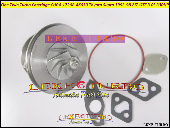 -One Twin Turbo Cartridge CHRA CT20 17208-46030 17208 46030 Turbocharger For TOYOTA Supra JZA80 1993-98 2JZ-GTE 2JZGTE 3.0L 330HP (5)