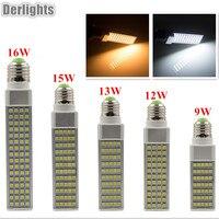 E27 G23 G24 Horizontal Plug Light SMD5050 9W 12W 13W 15W 16W AC85 265V White Warm