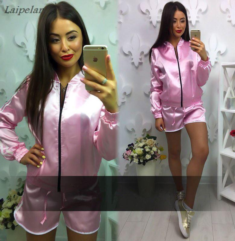 2018 Autumn Women Tracksuit 2 Piece Set Clothing Fashion Suit Woman short pants Laipelar