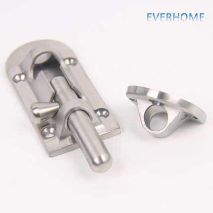 304 stainless steel casting  door latch bolt Security Guard Lever Action Flush LatchSlide Bolt Lock free shipping