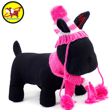 Petcircle Stripe Dog Hat and Scarf 2 Color Size XXS L Dog Hat Winter Pet Hat