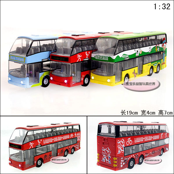2014 Top Fashion Hot Sale 1:32 Brinquedos Meninos Brinquedos Scale Models Fashion Luxury Bus Exquisite Alloy Car Acoustooptical